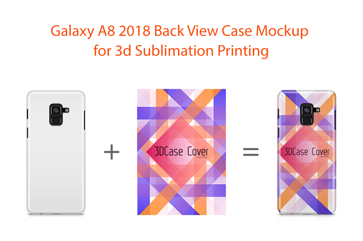Samsung Galaxy A8 2018 3D Case Design Mockup Back View example image 1