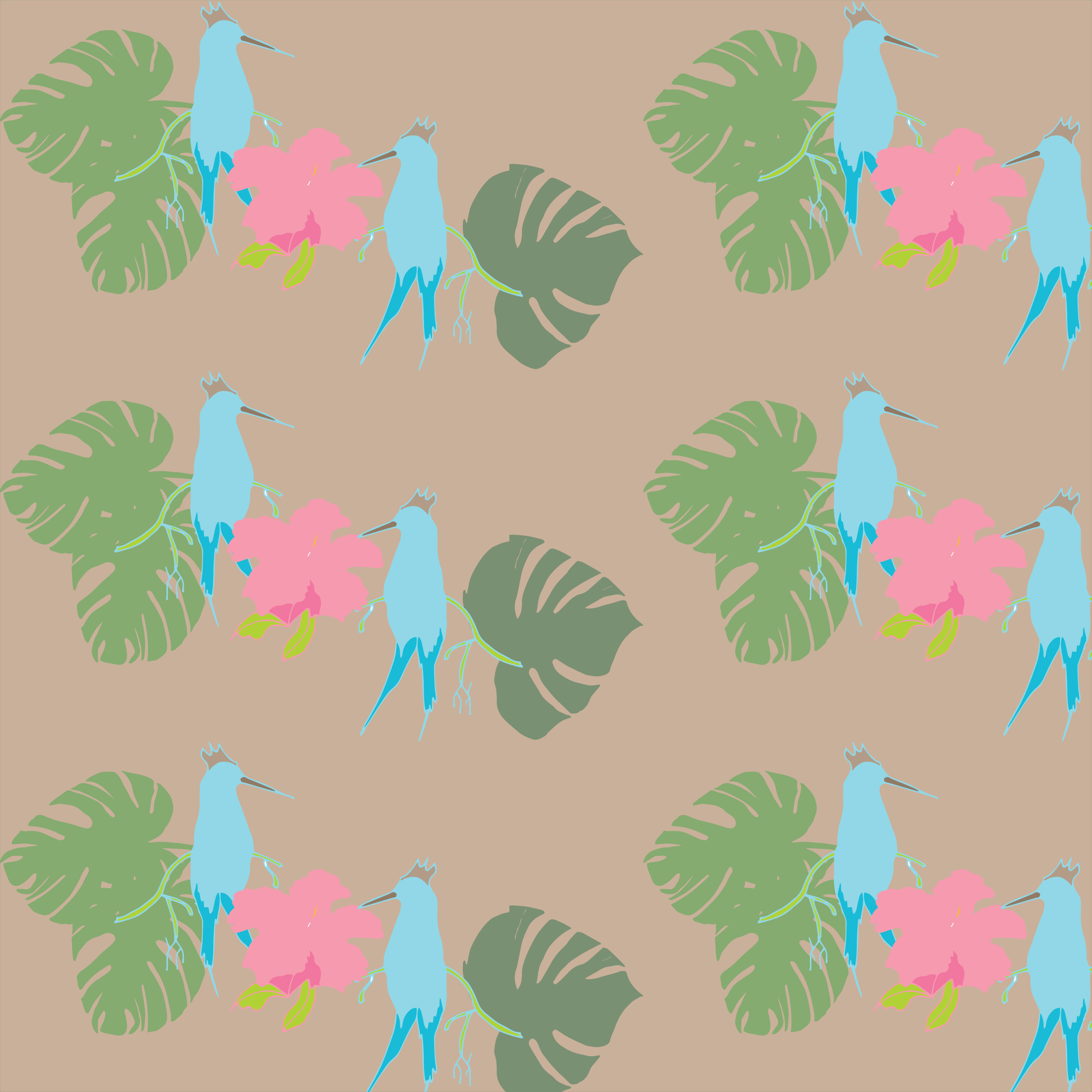 Fantasy Patterns with Birds example image 4