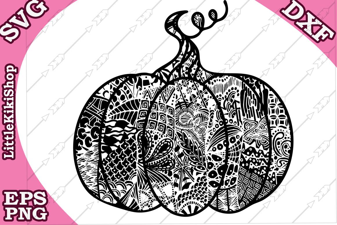 Mandala Pumpkin,Zentangle Pumpkin Svg,Thanksgiving clipart example image 2
