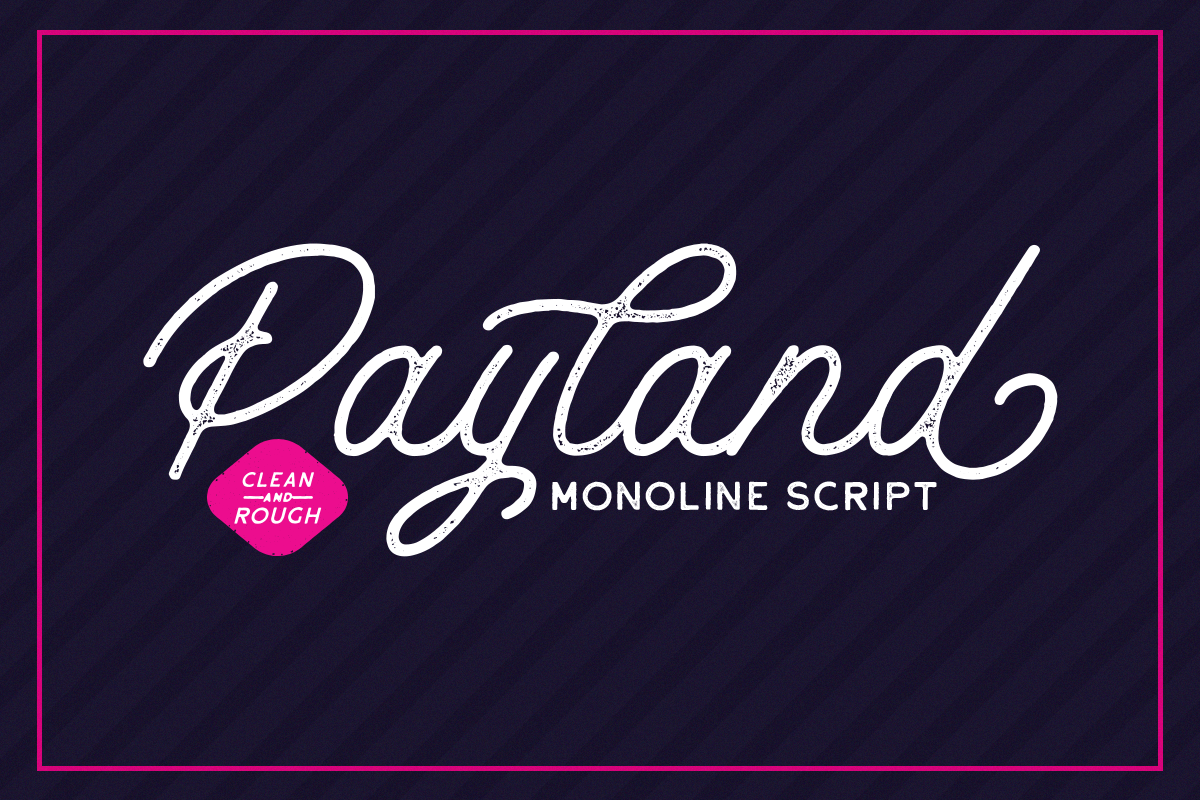 Payland Monoline Script example image 1