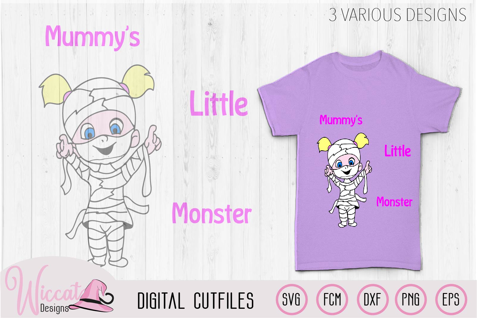 Mummies little monster svg cut file example image 3