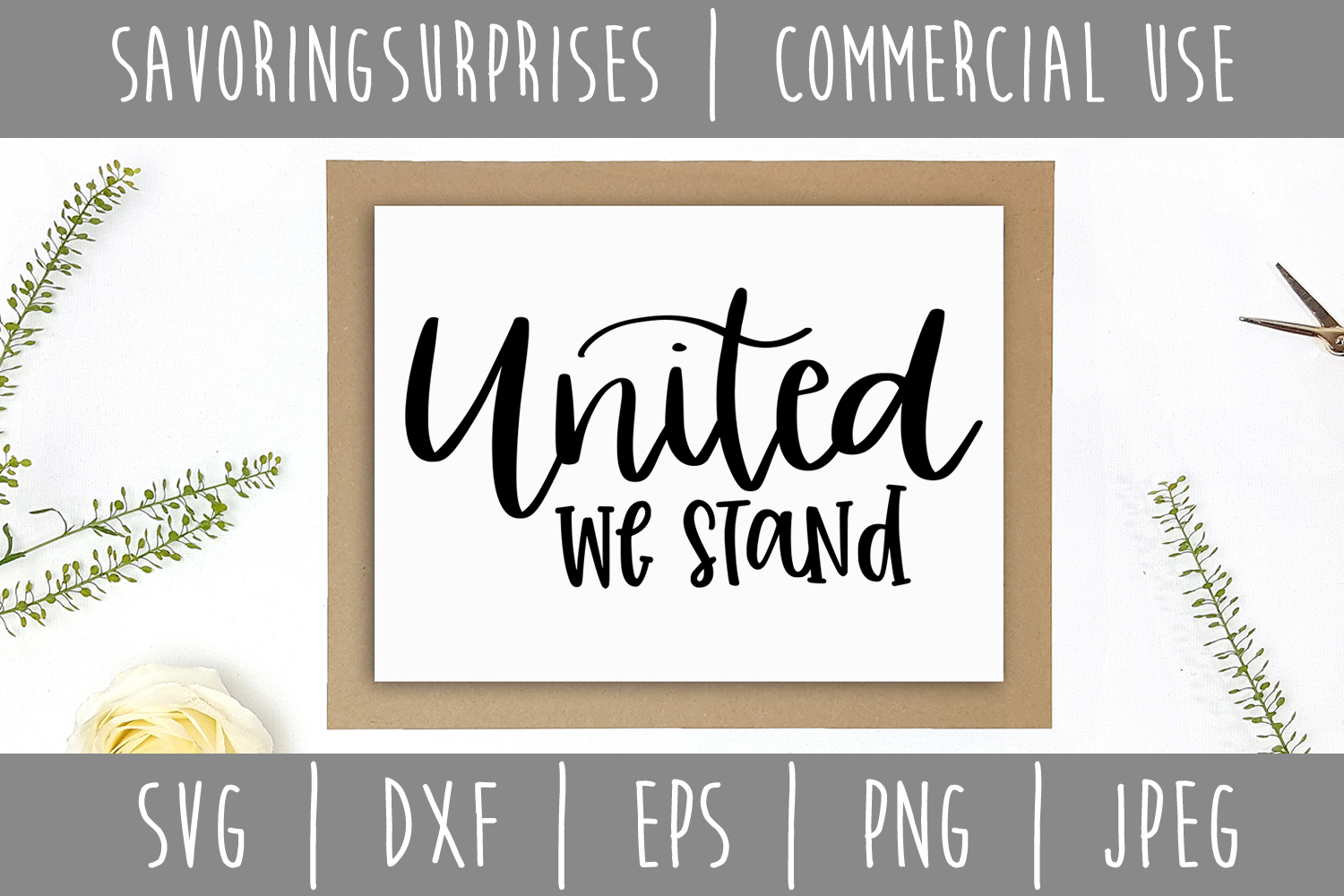 United We Stand SVG, DXF, EPS, PNG JPEG example image 3