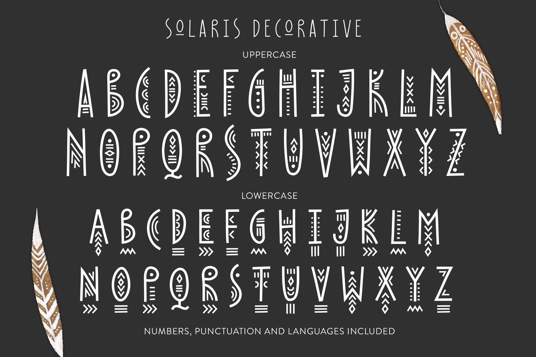 Thin Line Font Bundle 6 in 1 example image 7