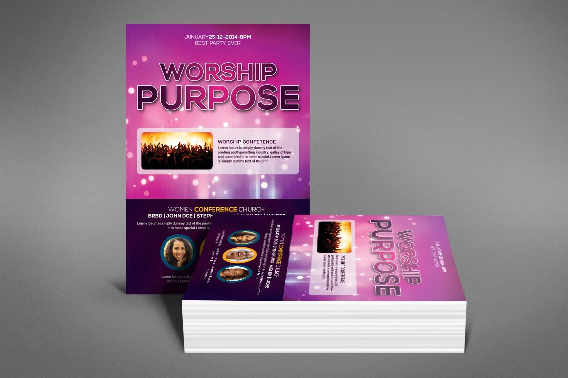 Worship Church Flyer example image 4