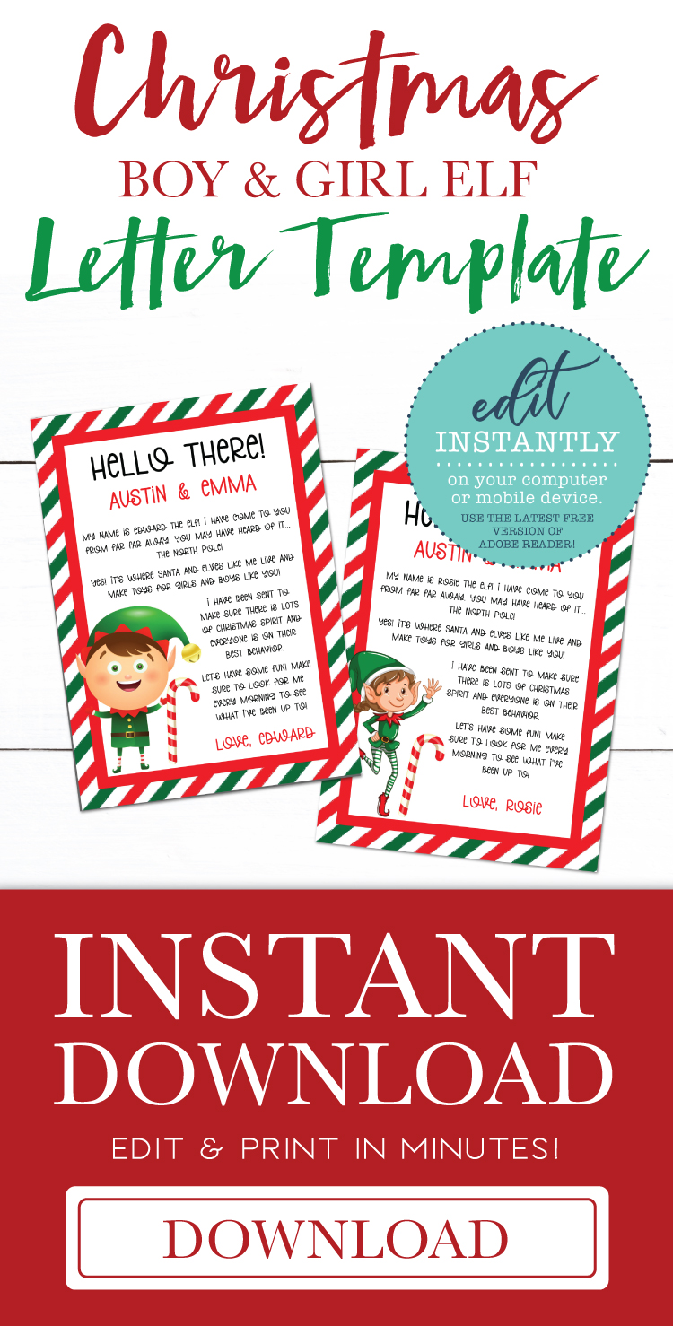 Elf Letter | Editable Christmas PDF Template example image 3
