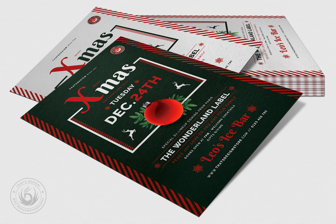Christmas Eve Flyer Template V12 example image 4