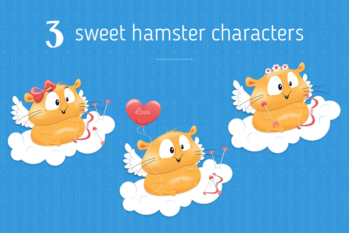 70 Valentine's Day greeting cards - Hamster Edition example image 3