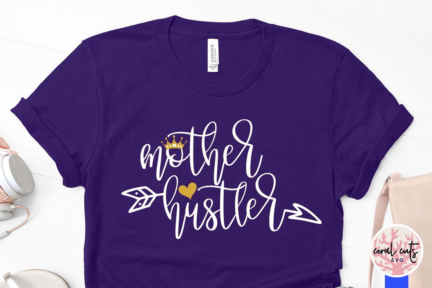 Mother hustler - Mother SVG EPS DXF PNG Cutting File example image 3