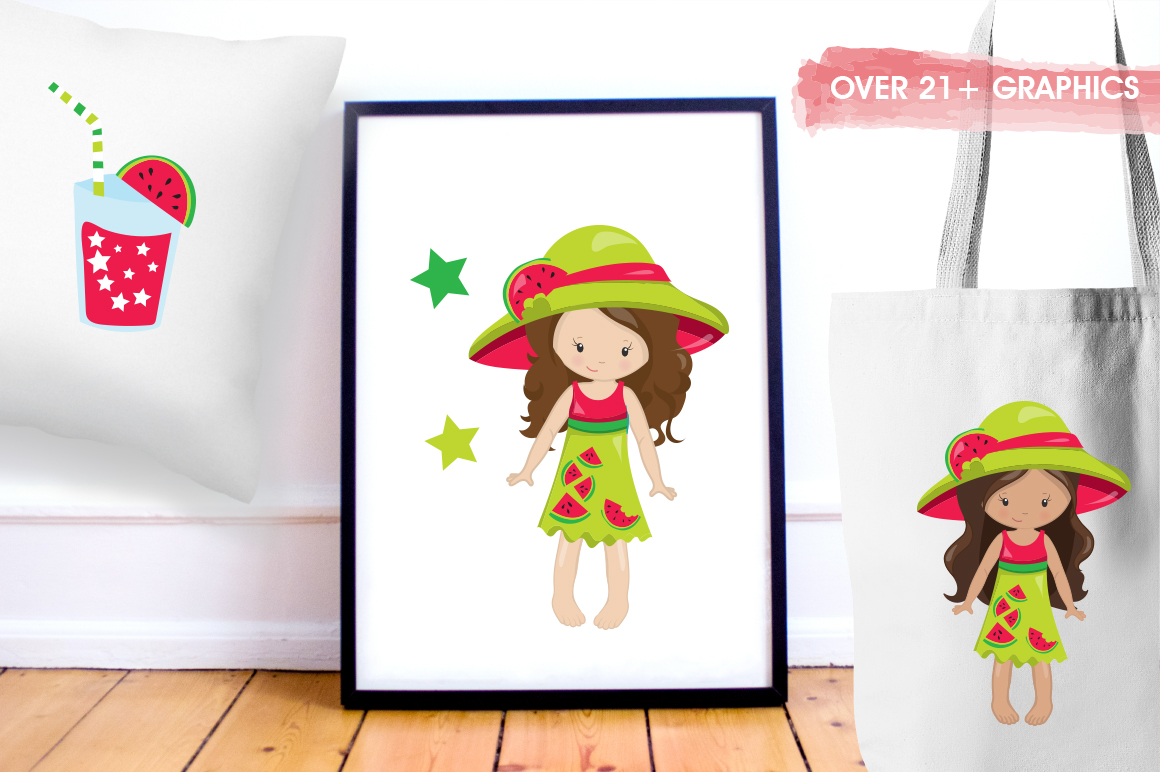 Watermelon Girls graphic and illustrations example image 5