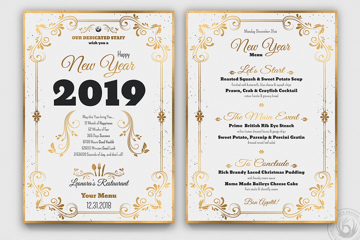 New Year Menu Template V1 example image 4