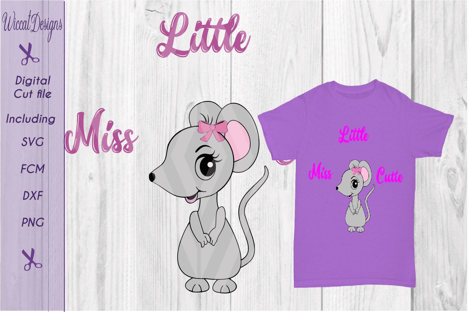 Mouse svg, Little miss cutie svg, quote svg, tshirt design svg example image 2
