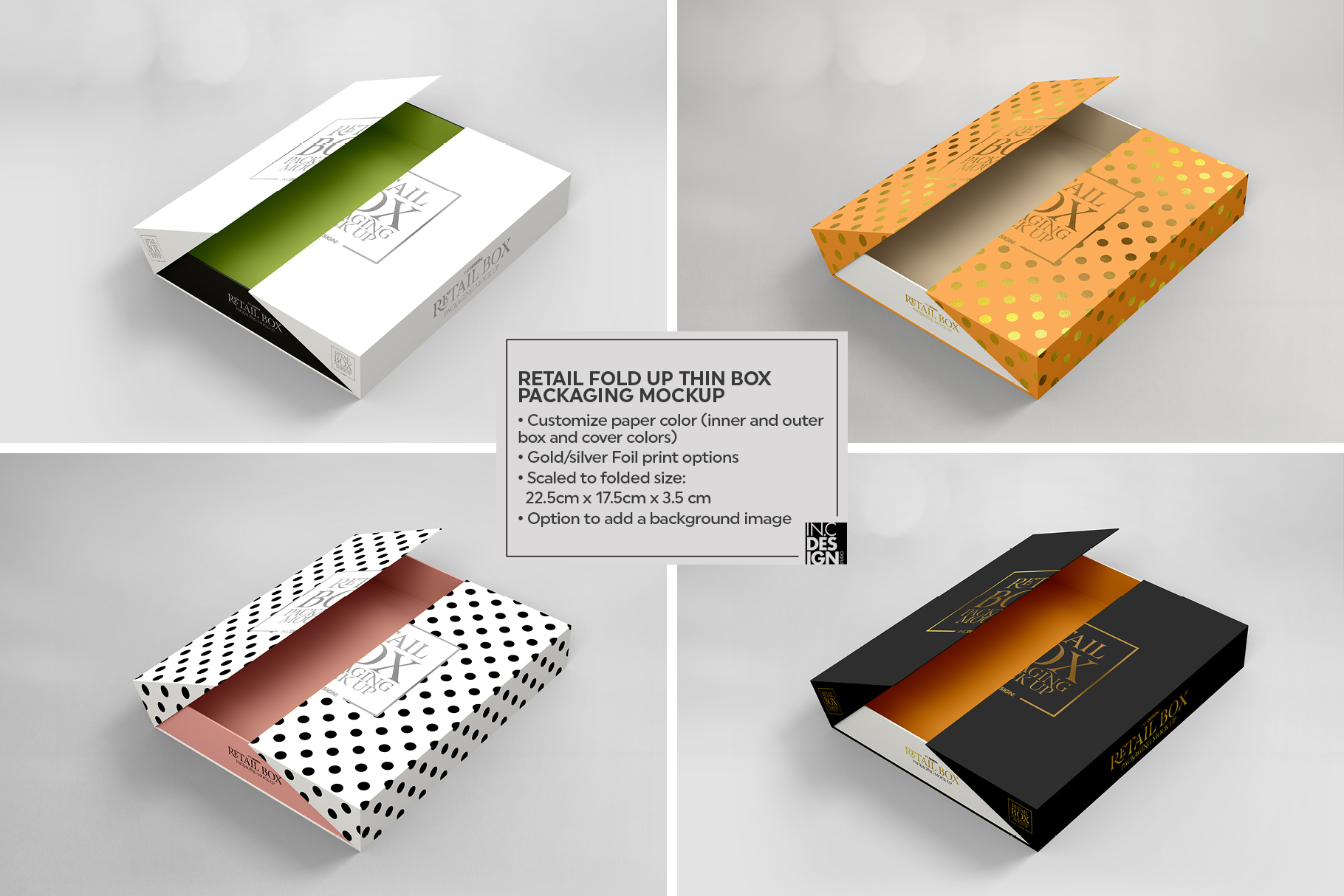 Fold Up Retail Thin Box Packaging Mockup example image 2