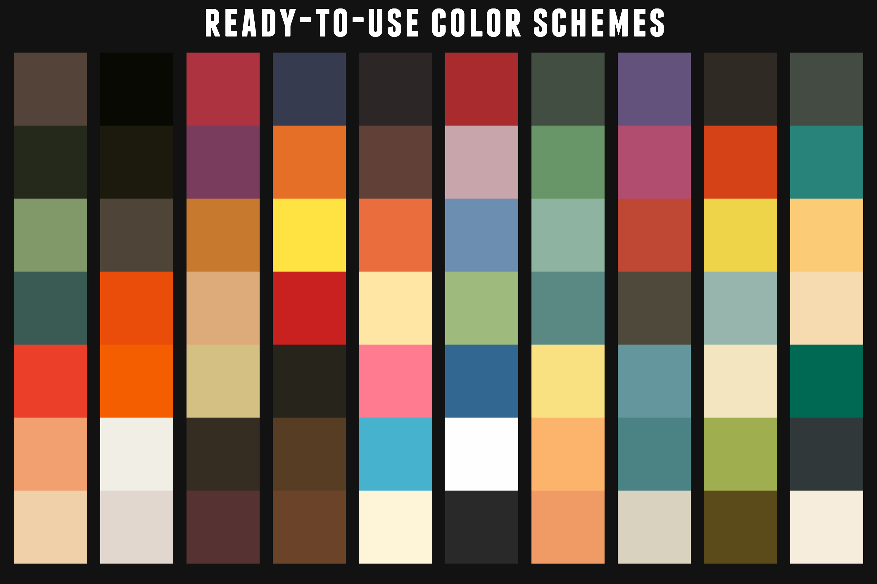 Vintage Swatches Pack example image 2