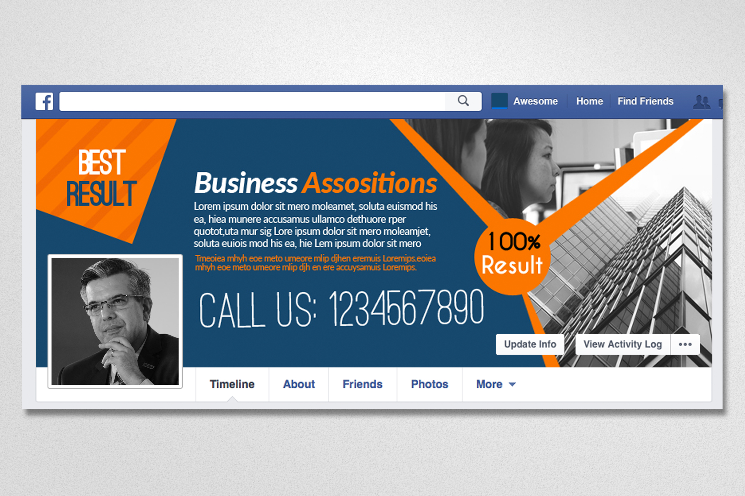 10 Business Facebook Timelines Bundle example image 6