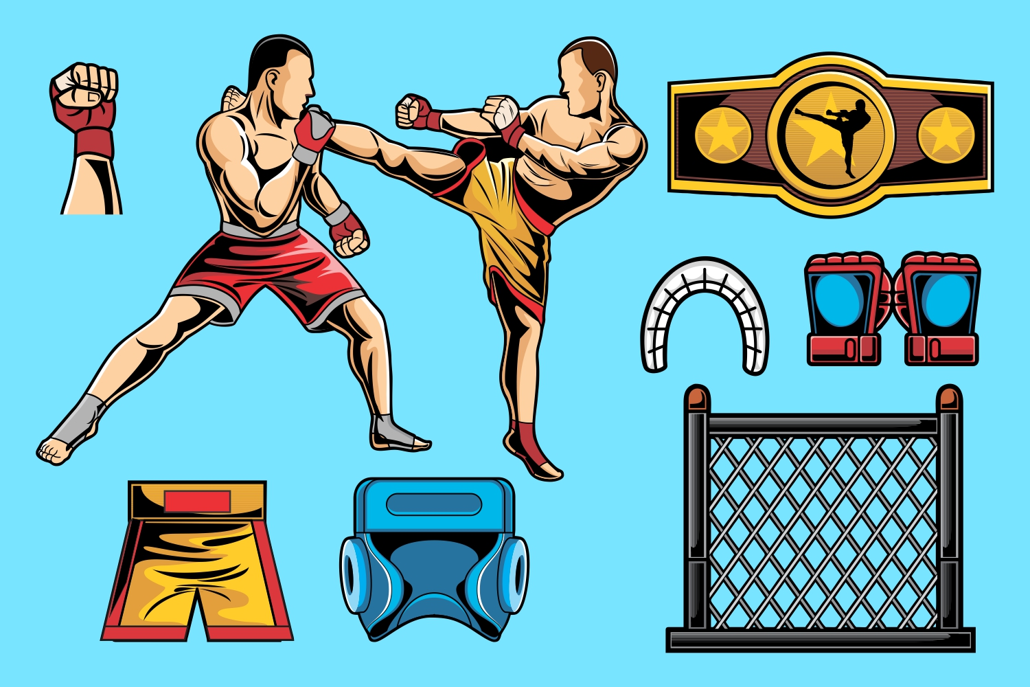 Mixed Martial Arts Vector Pack example image 1