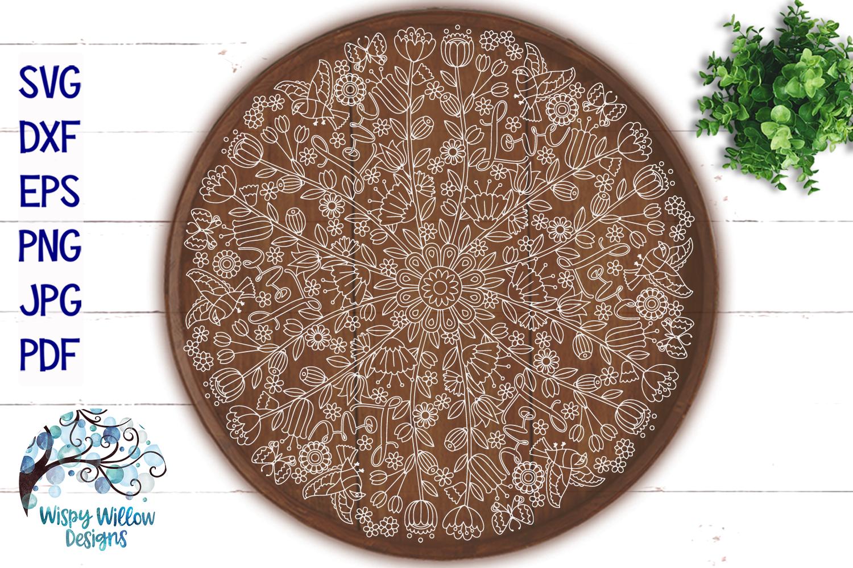 Love Mandala | Hidden Word Mandala SVG Cut File example image 3