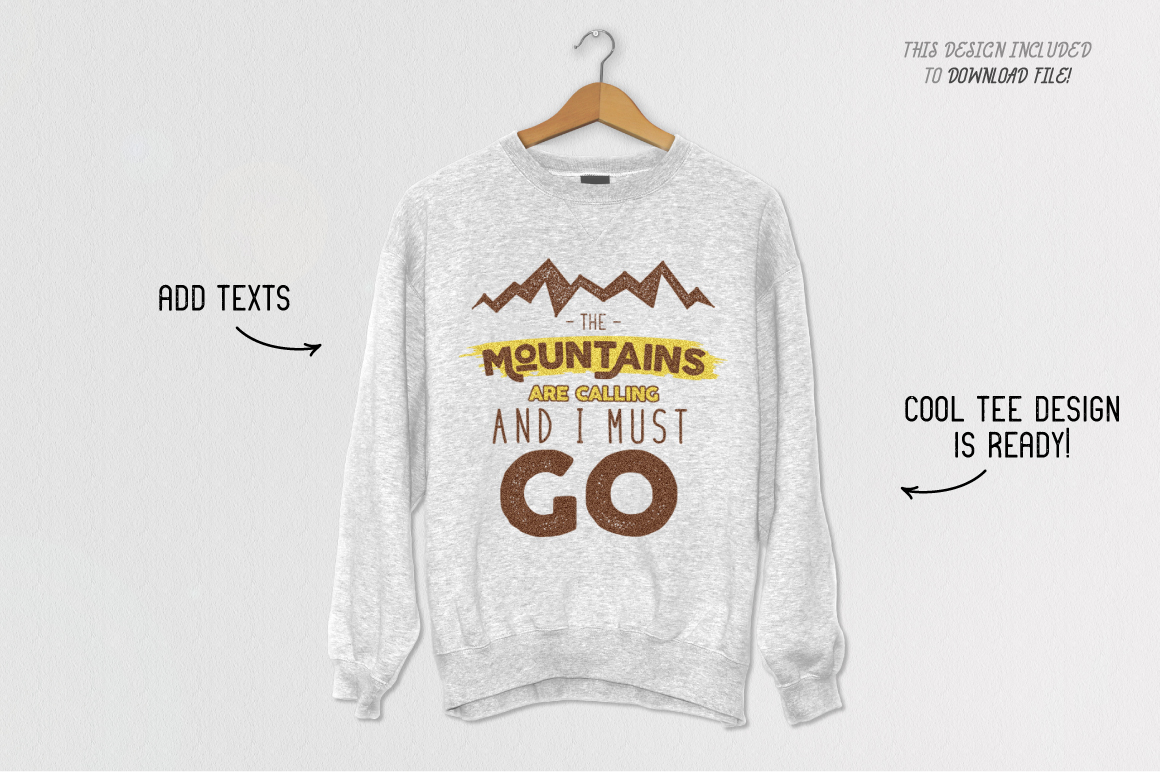 Mountain Shapes & Tee Design Vol.3 example image 2