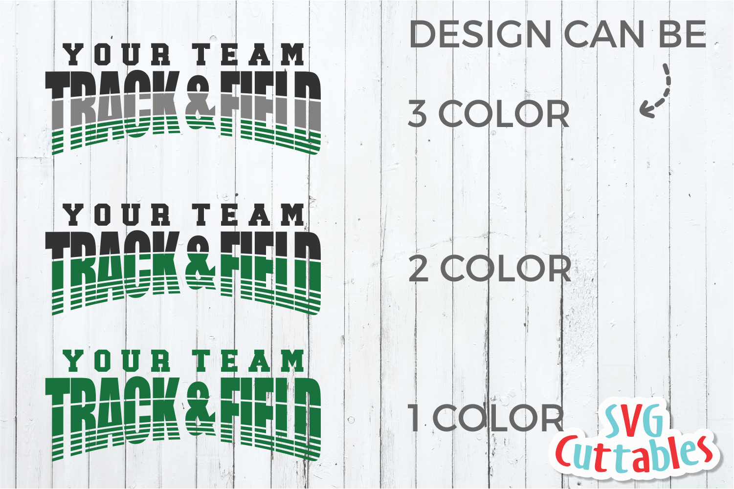 Track and Field Template 004 | SVG Cut File example image 3