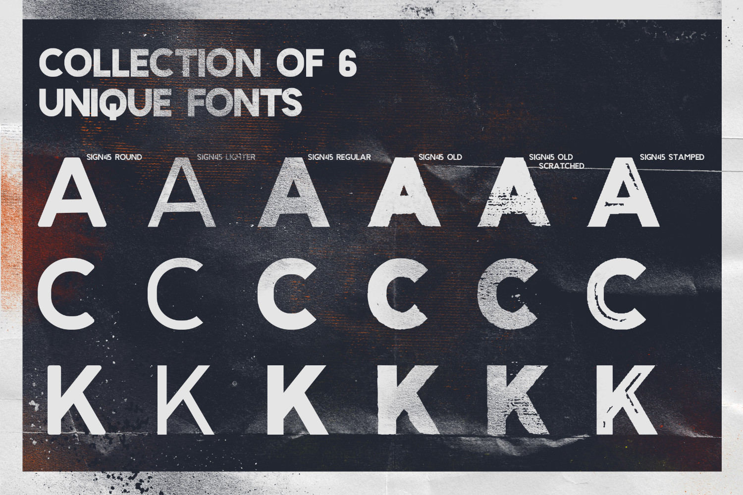Sign '45 Typeface example image 4