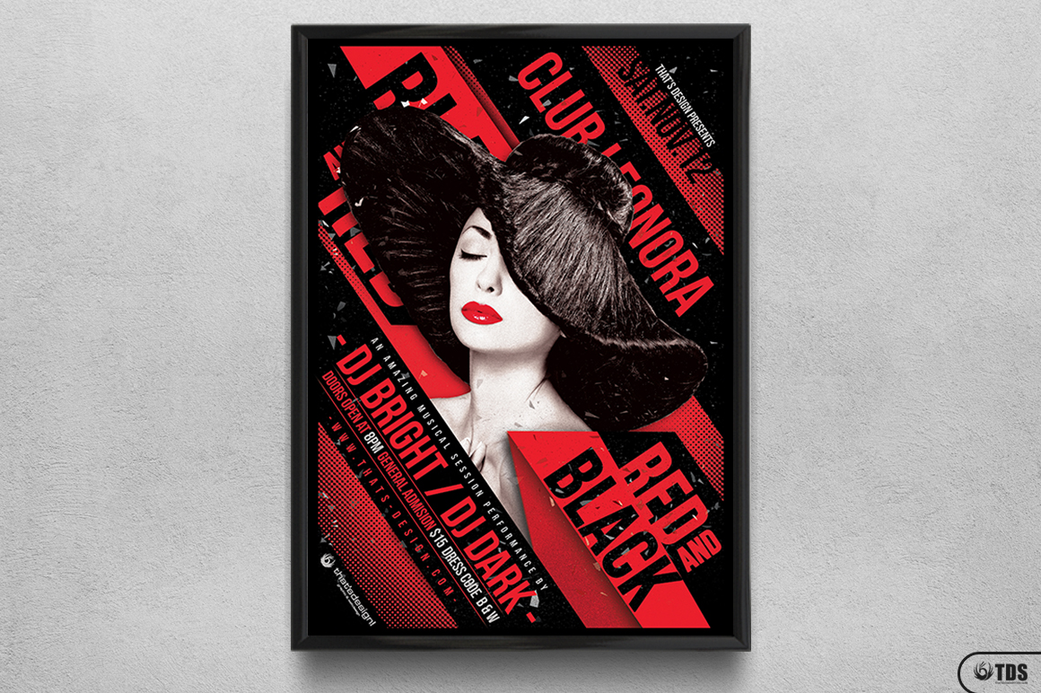Black and Red Party Flyer Template V1 example image 6