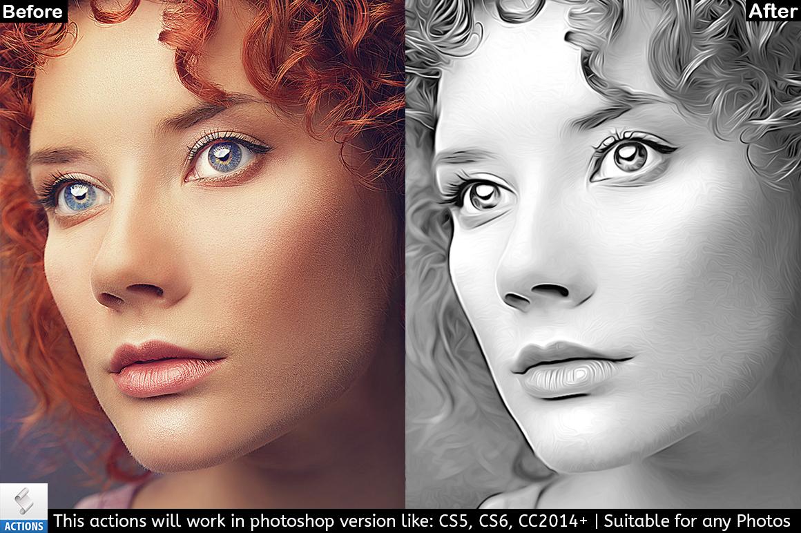 Black & White Photo Painting Effect example image 3