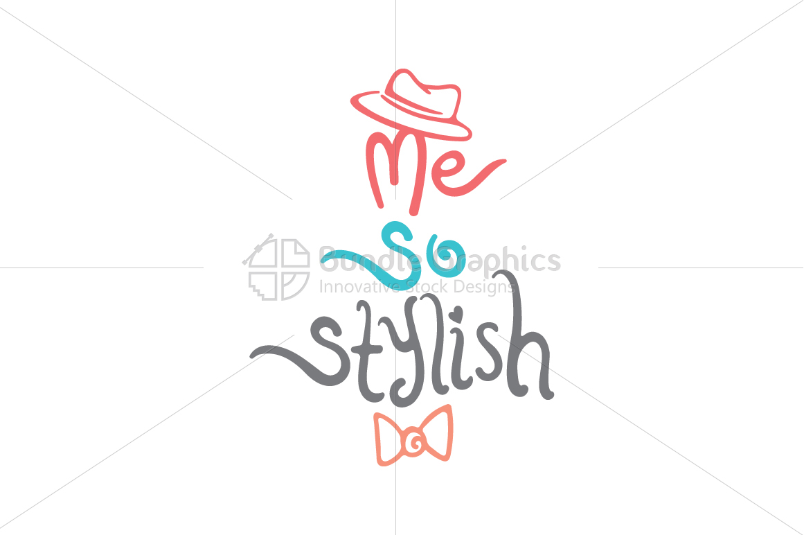 Me So Stylish - Iconic Graphical Textual Illustration example image 2