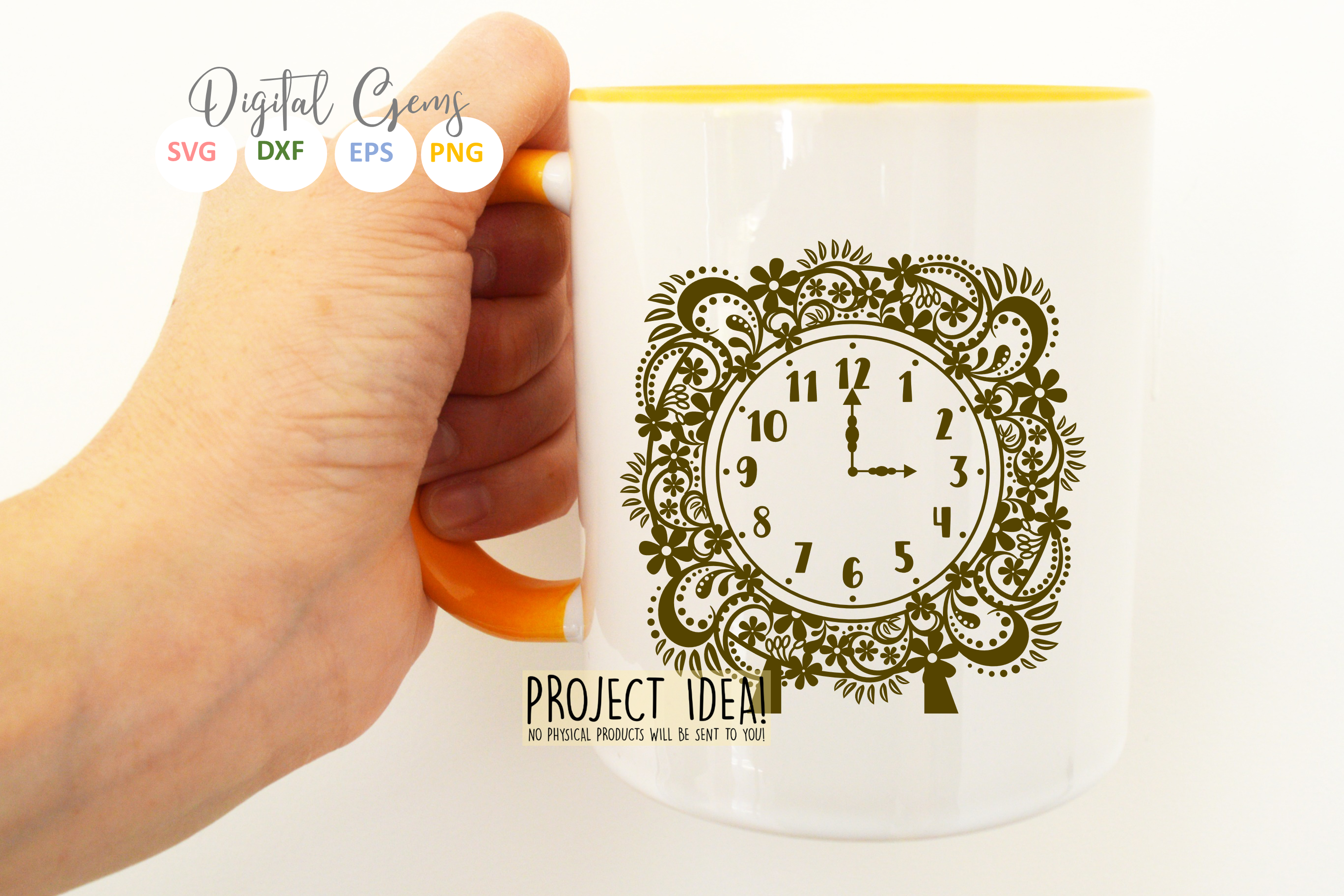 Clock SVG / EPS / DXF / PNG Files example image 3
