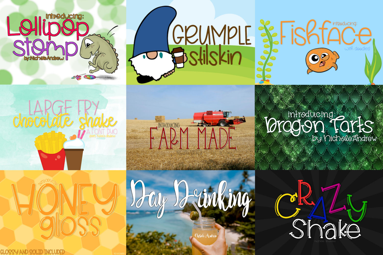The Fun Font Bundle - Includes 20 Fonts! example image 3