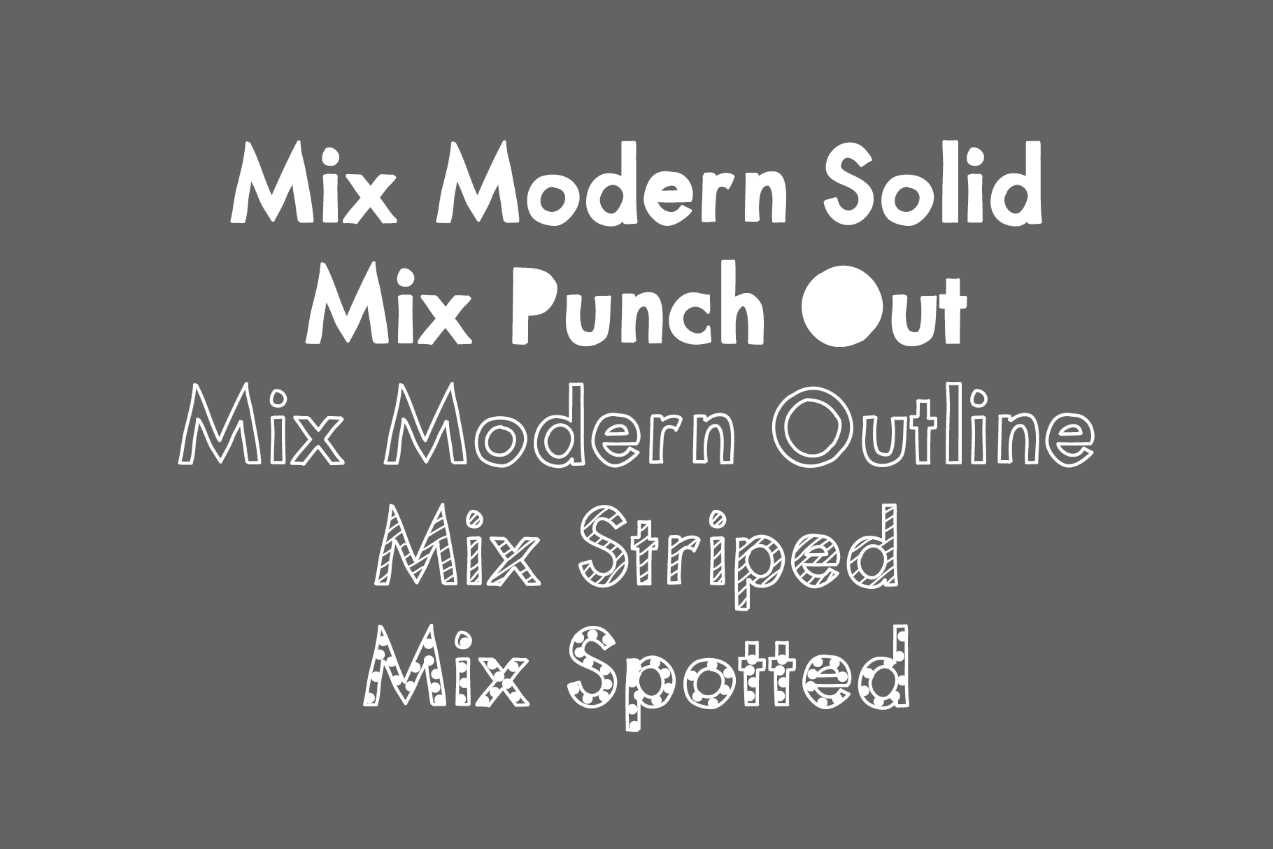 Mix Modern - A Layering Family of Fonts example image 4
