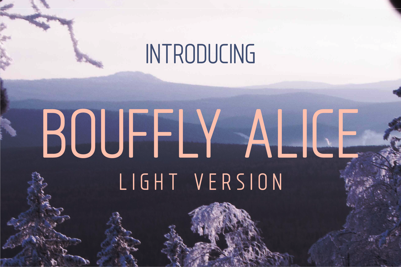 Bouffly Alice light Version l Elegant font sans serif example image 1