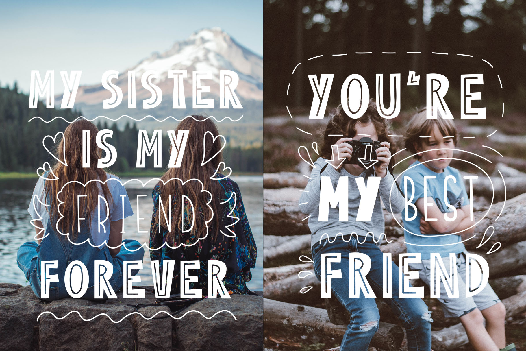 Friends Forever - Childrens font duo example image 5