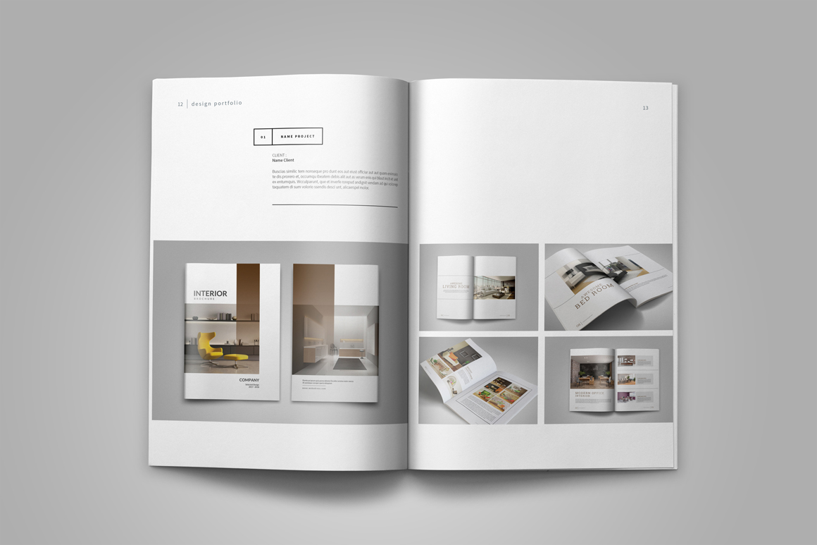Graphic Design Portfolio Template Example Image 9