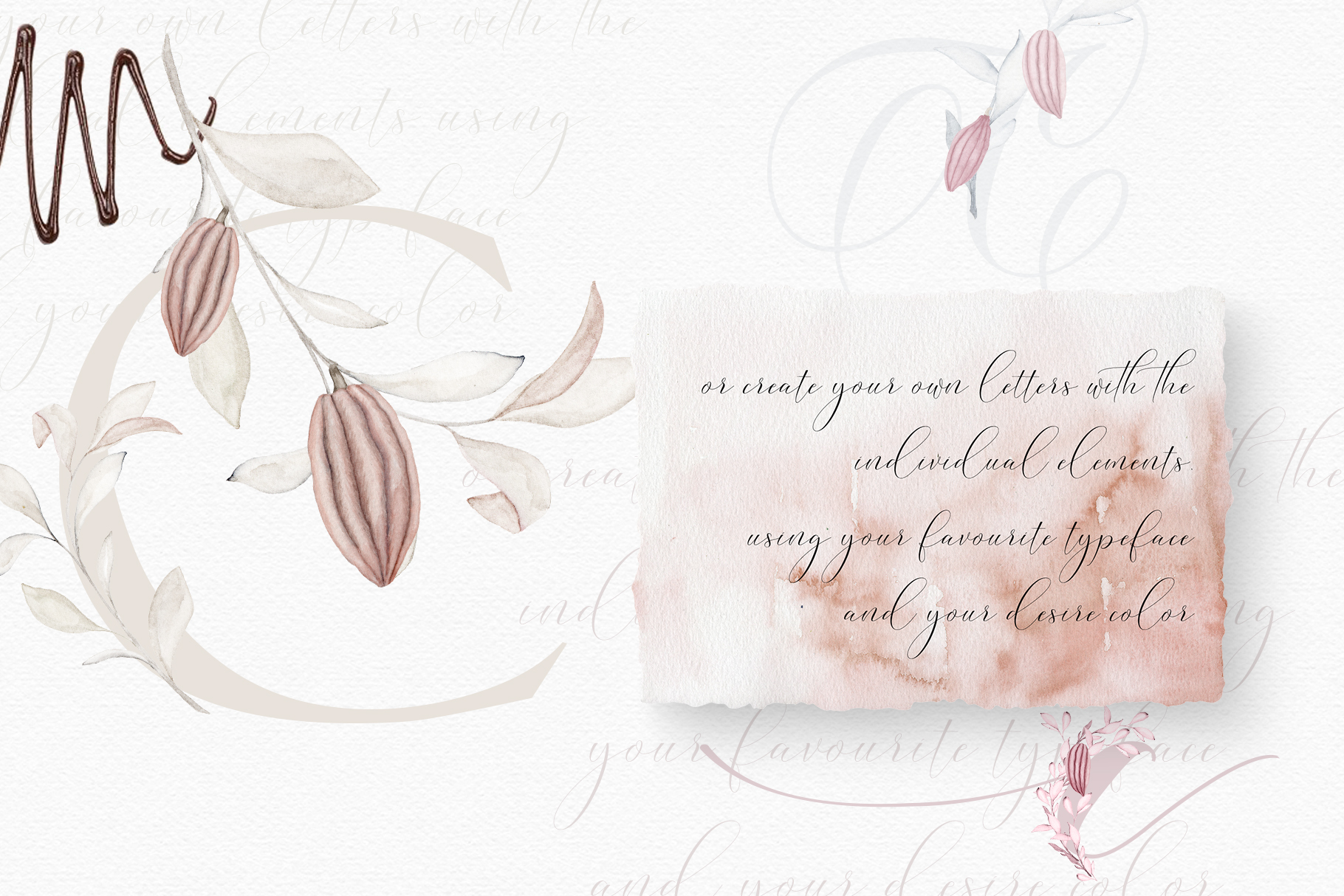 Wonderful Cocoa - Watercolor Clipart Set example image 5