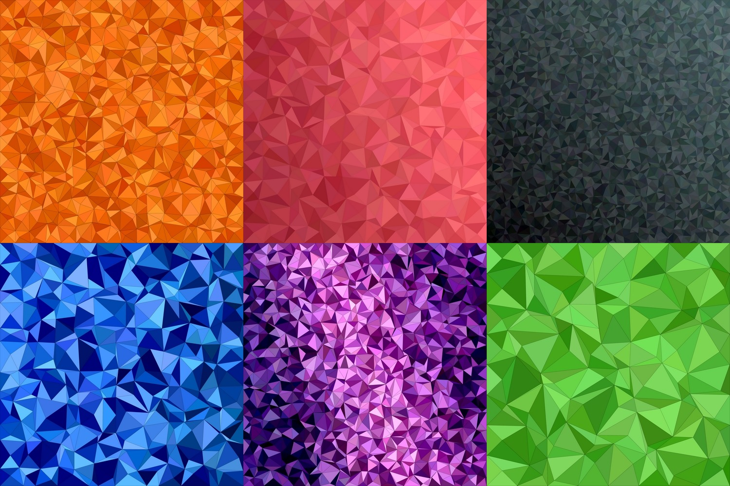 50 colorful triangle backgrounds (AI, EPS, JPG 5000x5000) example image 2