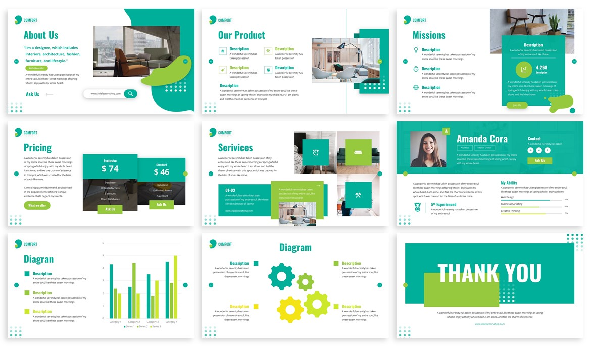Comfort - Furniture Powerpoint Template example image 5