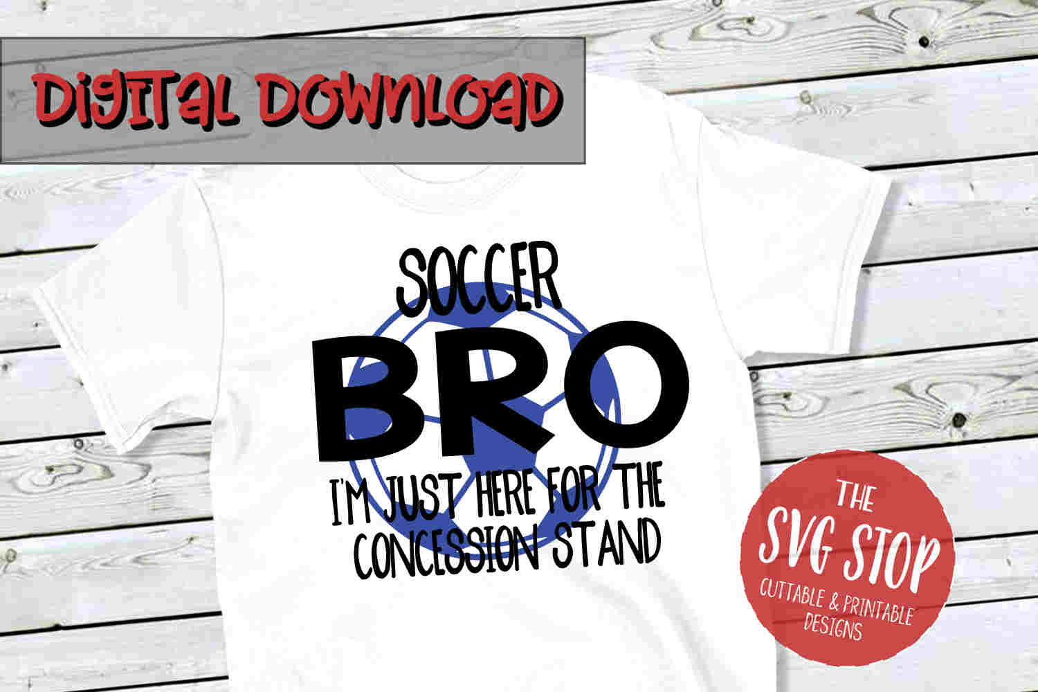 Soccer Bro -SVG, PNG, DXF example image 1