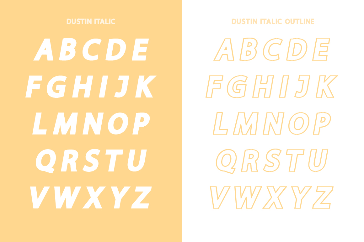 Dustin Font Family example image 10