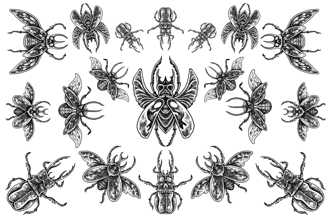 Beetle horn - Tattoo style example image 1