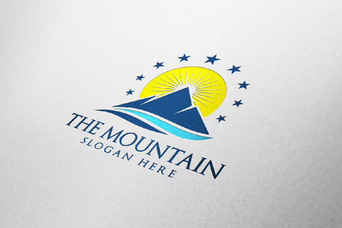 Mountain, summit logo template example image 3