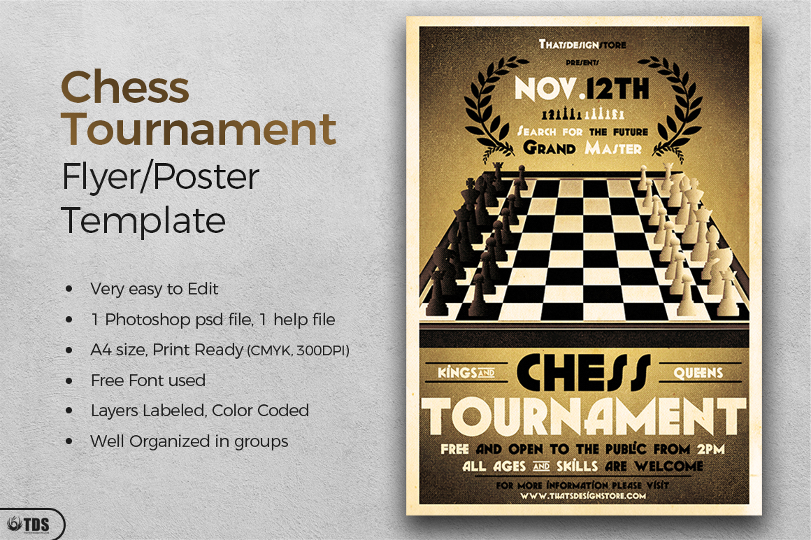 Chess Tournament Flyer Template example image 2