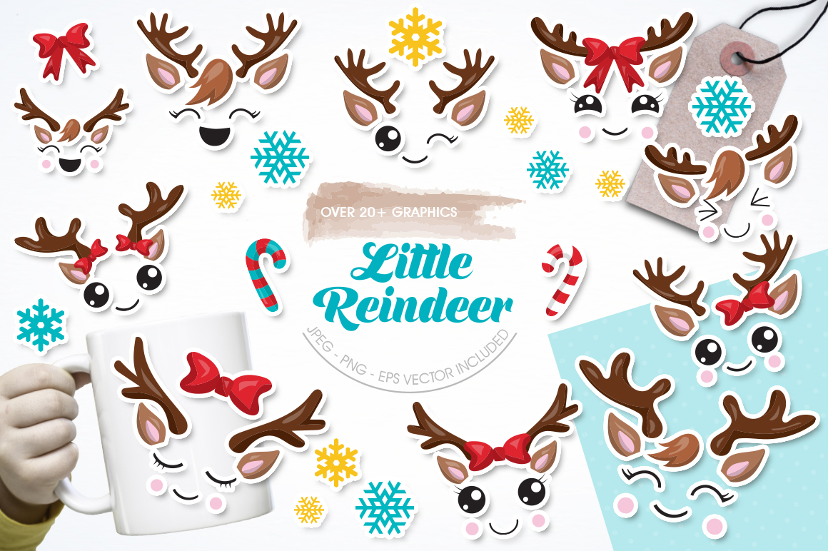 Little Reindeer graphic and illustrations example image 1