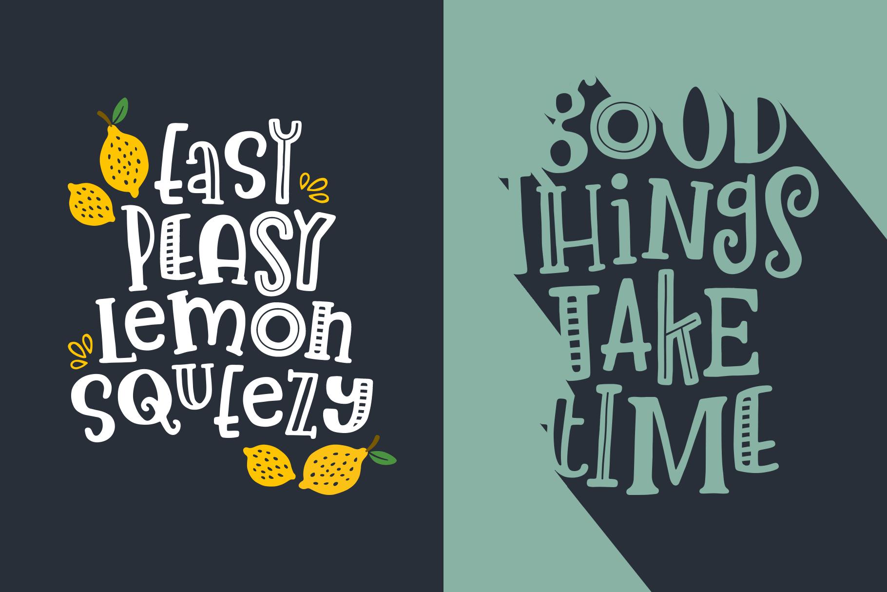 Lemon Slice Font Trio example image 5