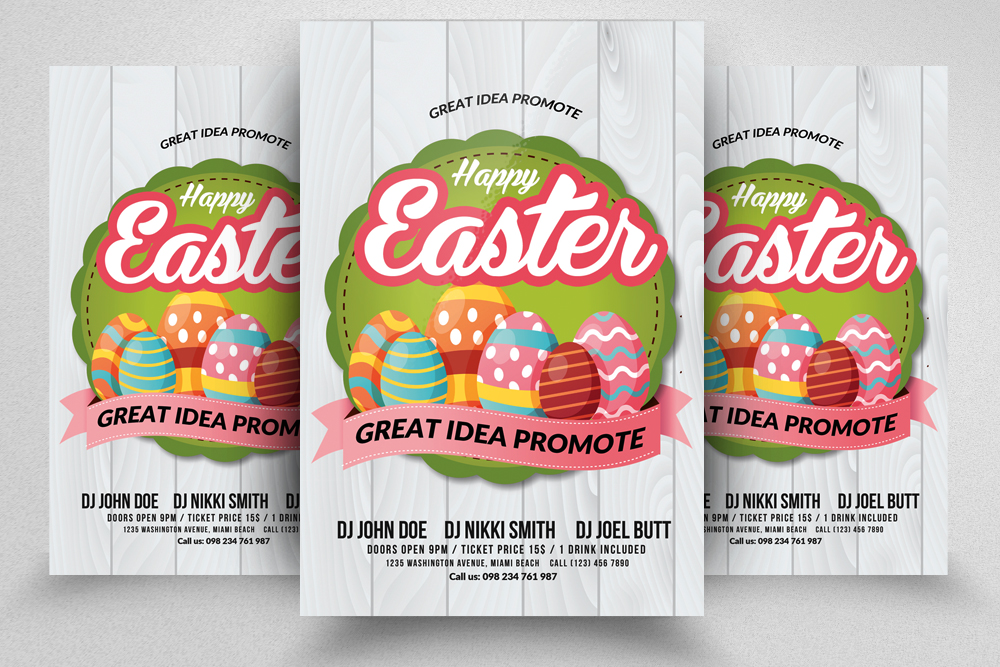 Spring and Easter Flyer Template example image 1