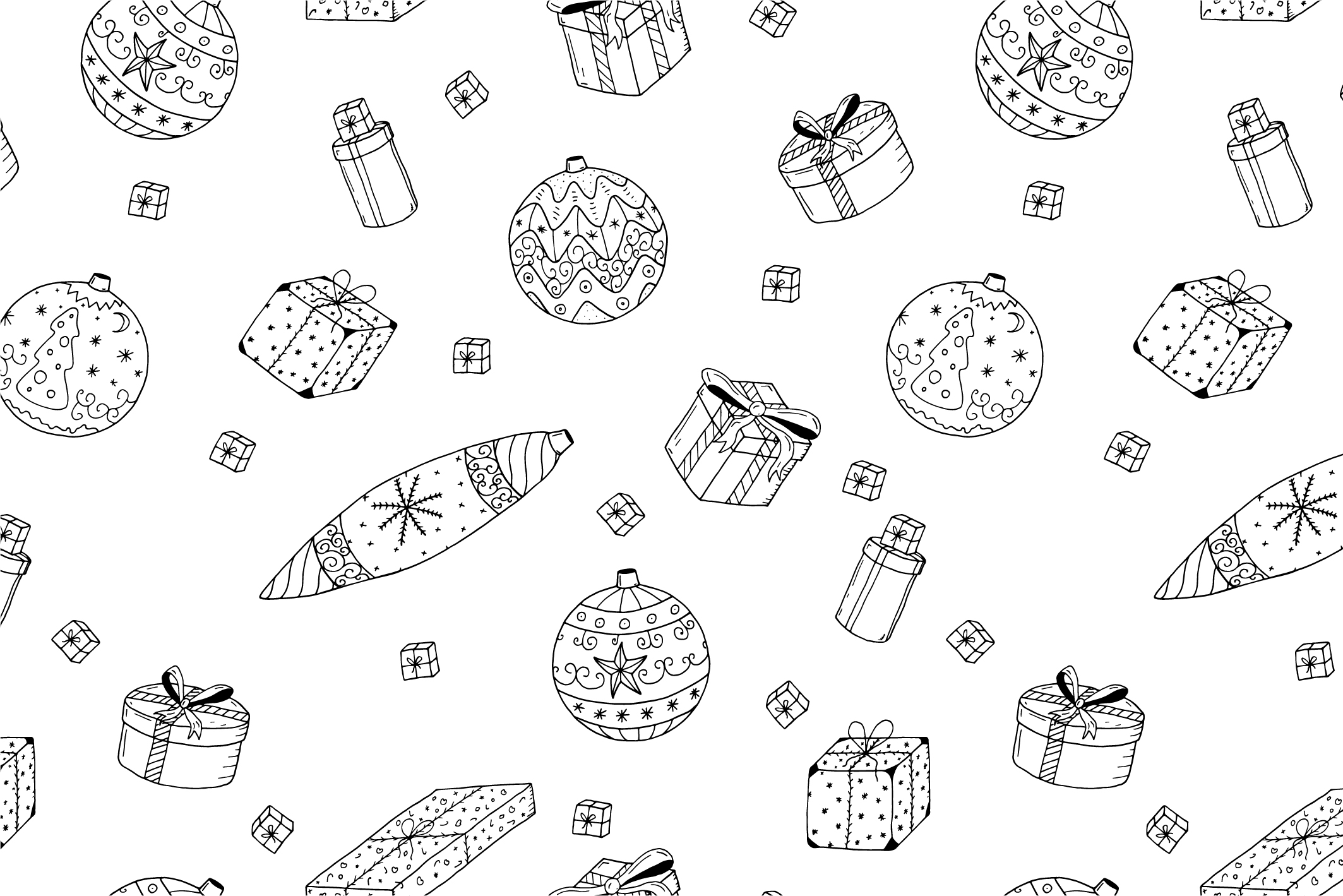 Christmas seamless patterns. example image 7