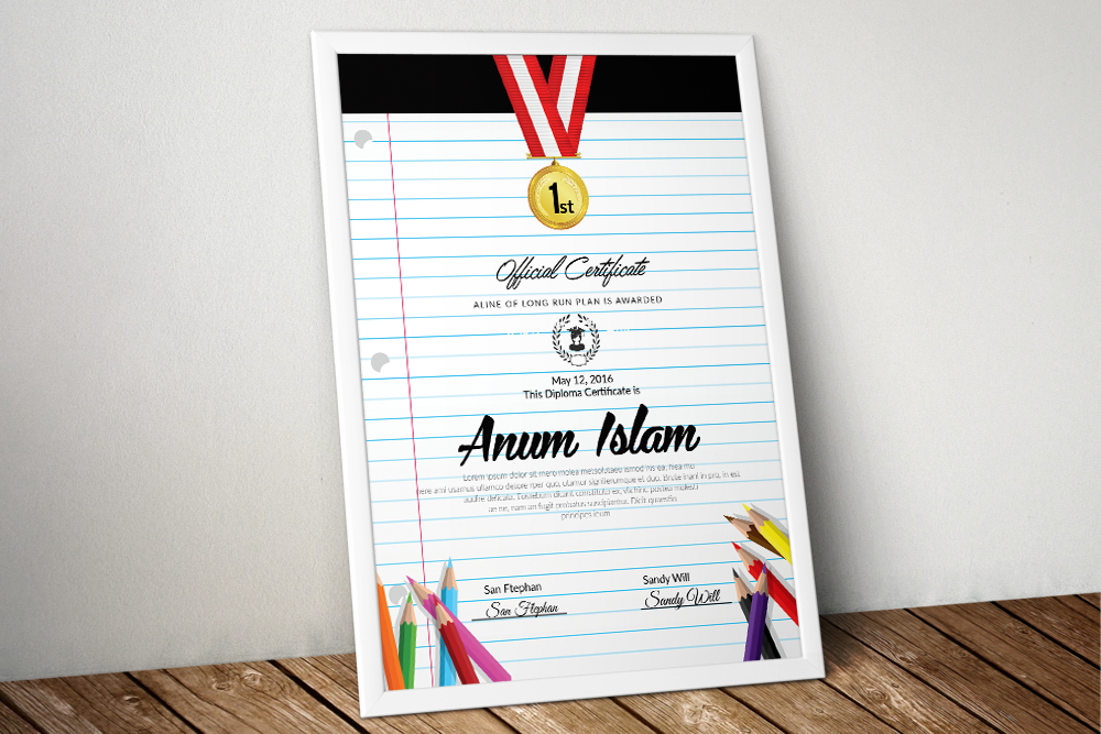 Educational Certificate Template example image 1