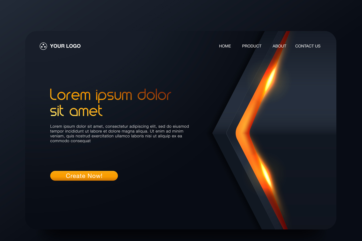 20 - Abstract background design. Landing page template example image 11
