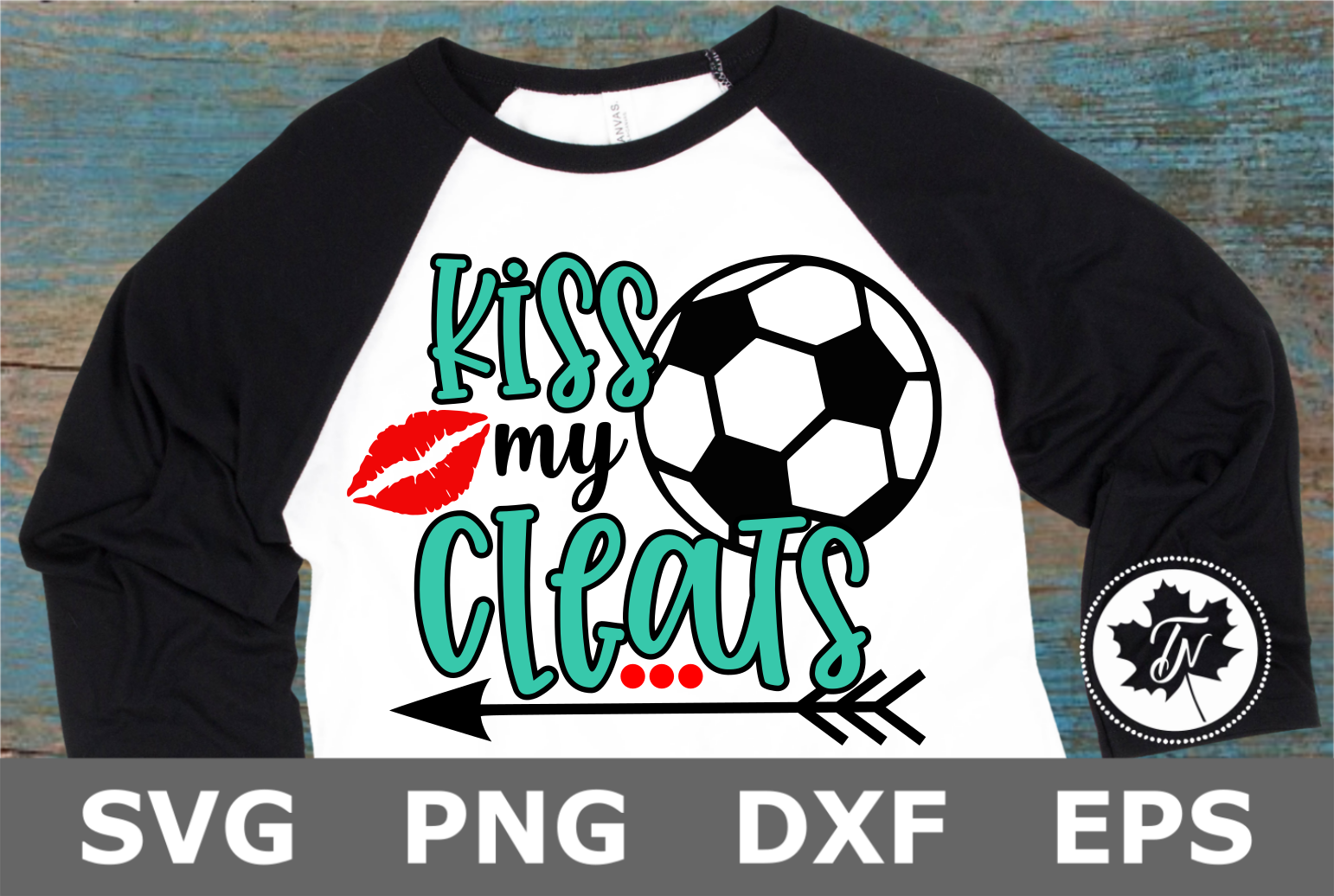 Kiss My Cleats Soccer - A Sports SVG Cut File example image 1