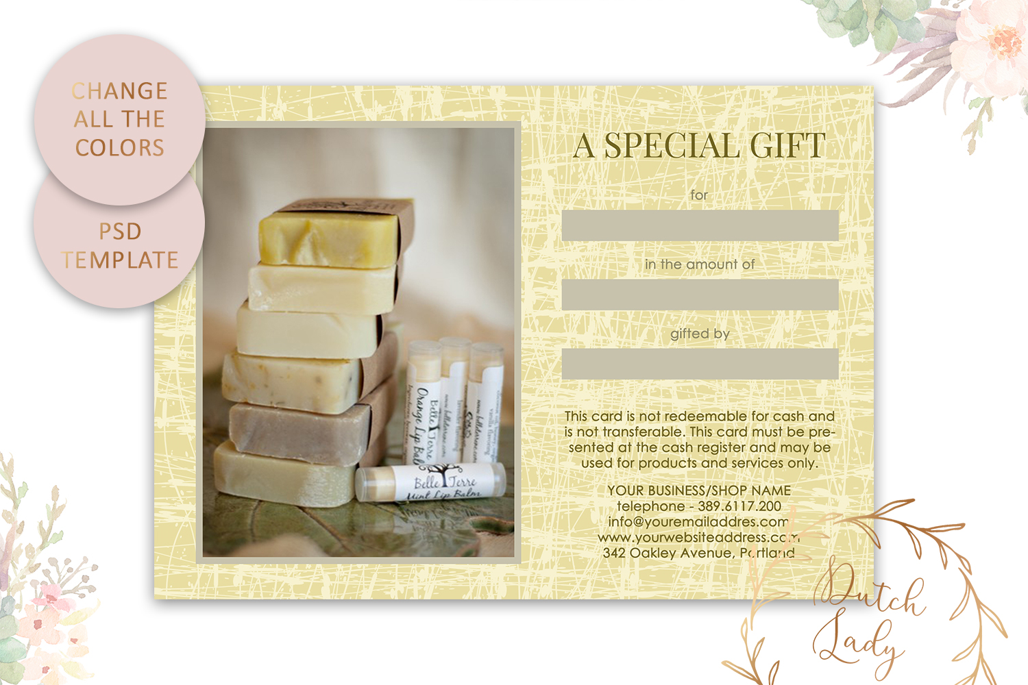 Photo Gift Card Template for Adobe Photoshop - #29 example image 5