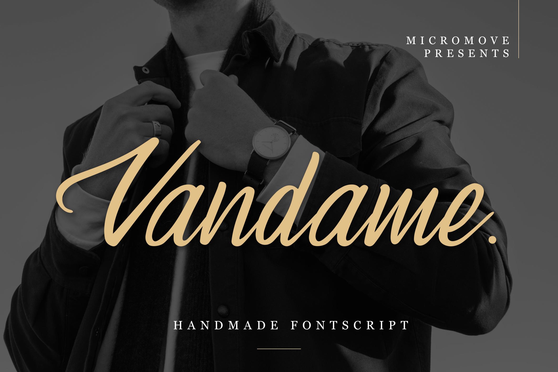 Vandame - Fontscript example image 2