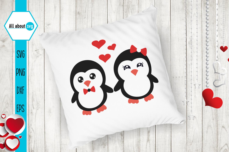 Valentine's Penguins Bundle Svg example image 4